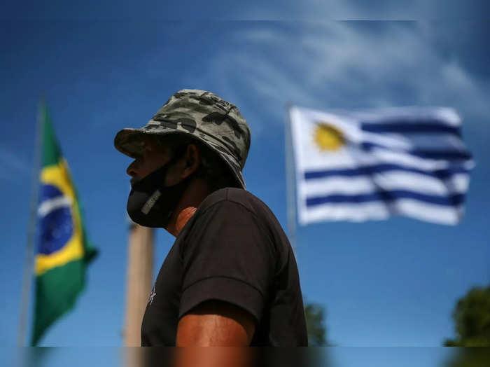 Brazils COVID-19 situation sparks fear, at the border of Santana do Livramento and Rivera city