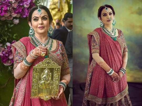 beautiful saree collection in nita ambani wardrobe in marathi