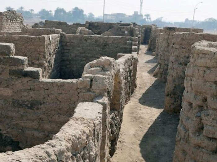 largest ancient golden city found near luxor in egypt