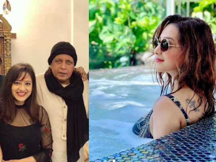 Mithun Chakraborty daughter in law stunning pool picture