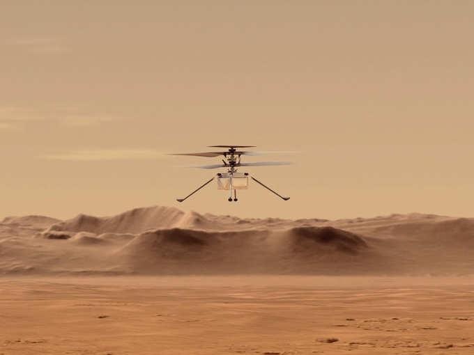 मंगल पर हेलिकॉप्टर