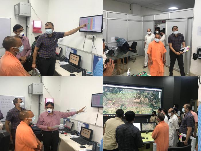 high speed of coronavirus in lucknow, cm yogi adityanath arrives to inspect covid control center himself