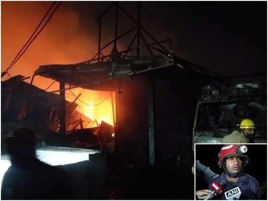 delhi furniture market fire news