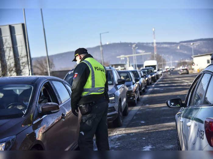 Virus Outbreak Slovakia Border Check