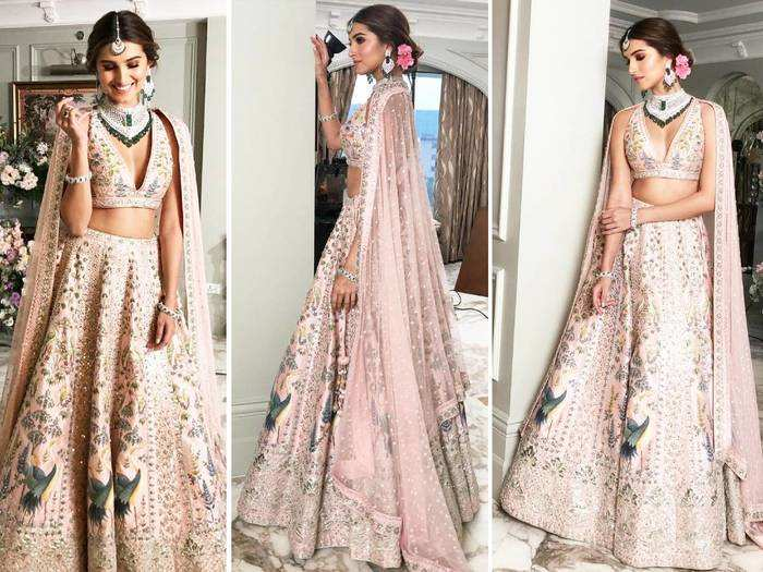tara sutaria looks drop dead gorgeous in anita dongre bridal couture