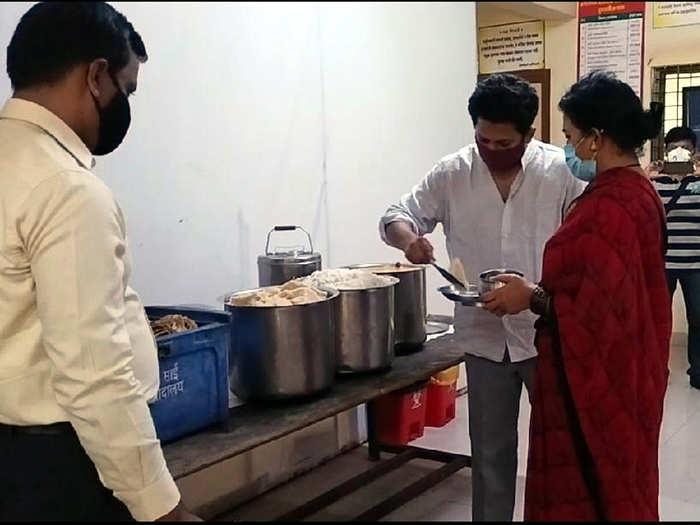 Sujay Vikhe At Covid Centre