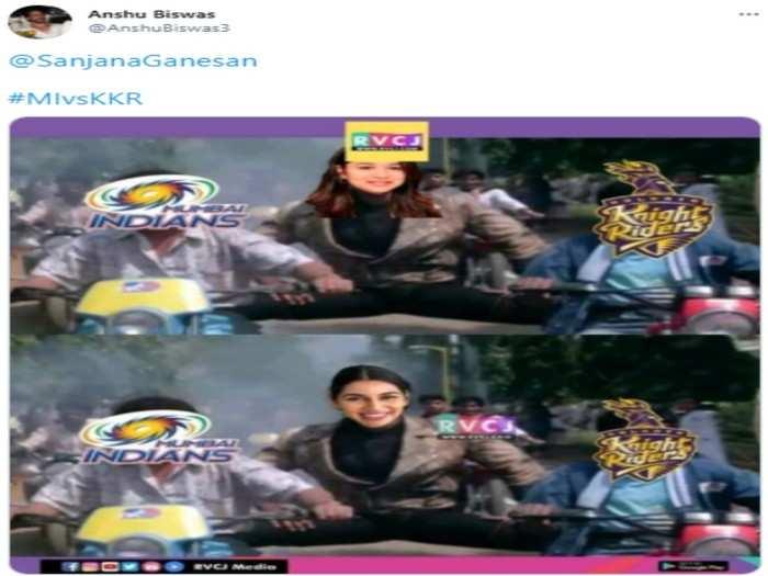 kolkata knight riders versus mumbai indian match fans trollers brutally trolled sara tendulkar sanjana ganesan shubman gill