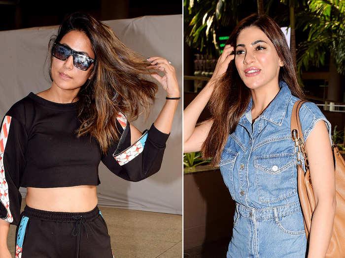 nikki tamboli airport fashion was 100 times better than hina khan