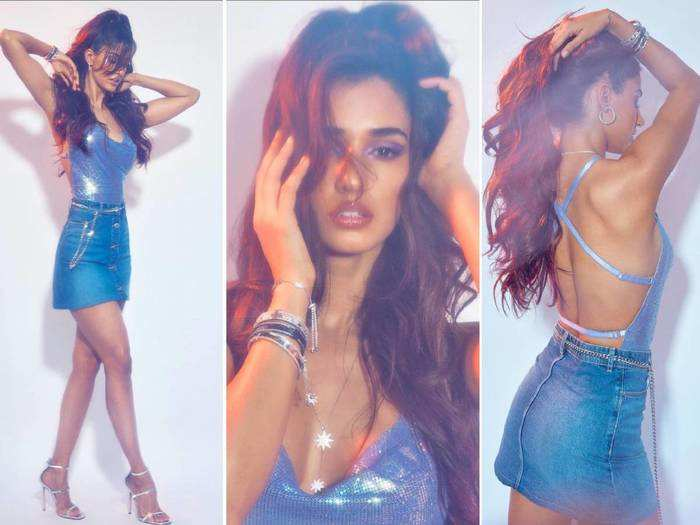 disha patani flaunt her enviable curves in lace bodysuit