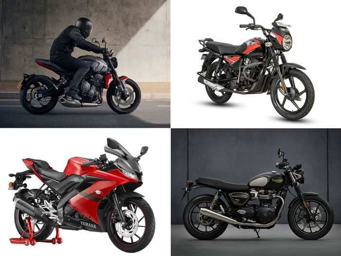 bajaj ct110x to yamaha r15 v3 to 2021 triumph bonneville street twin to triumph trident 660 here are four latest bike launched in april 2021