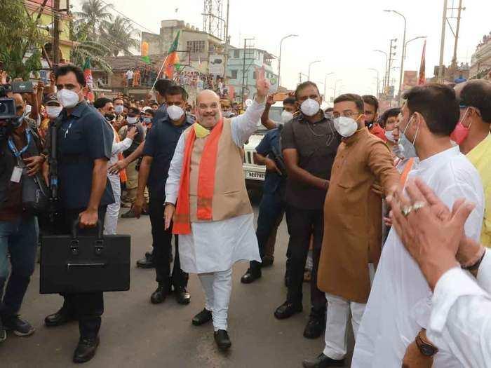 बंगाल में अमित शाह