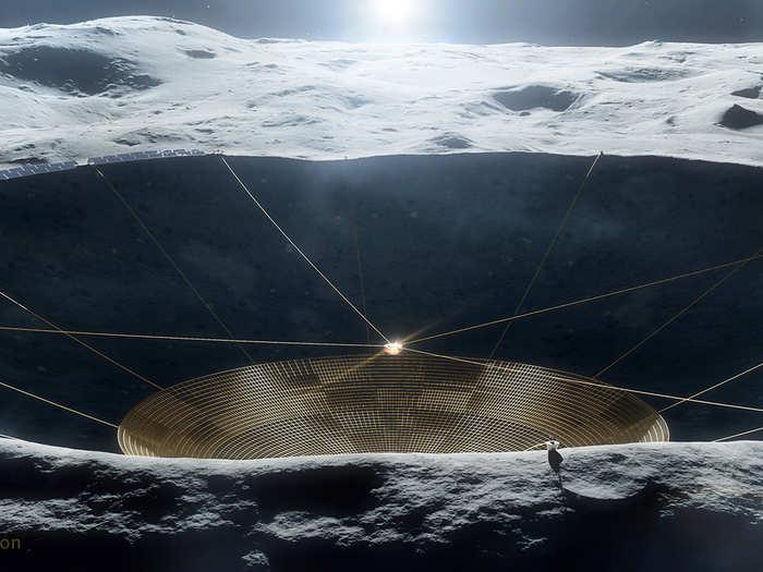 nasa to build lunar crater radio telescope on moon like arecibo