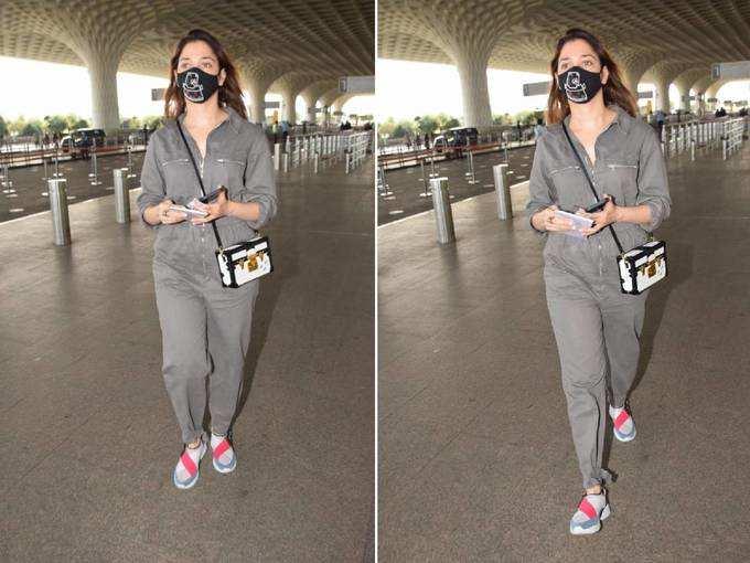 तमन्ना भाटिया का एयरपोर्ट फैशन