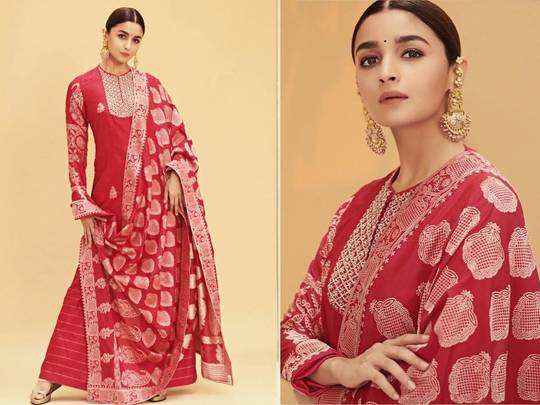 alia bhatt looks drop dead gorgeous in red sabyasachi sari