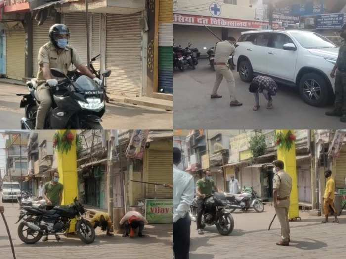 ips sachin sharma news : sp beat up a people who break covid rule in chhatarpur, video goes viral