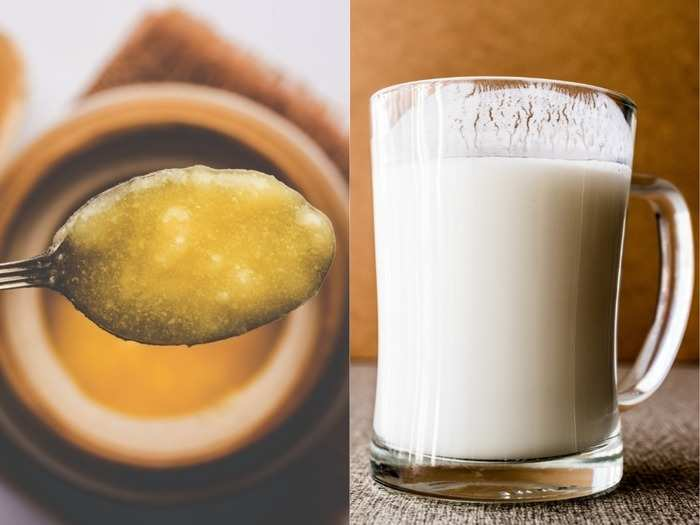 health benefits of drinking desi cow ghee with milk