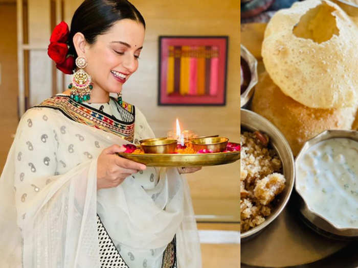 Kangana Ranaut Gets Brutally Trolled For sharing onion picture in ashtami parsadam