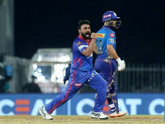 Amit Mishra in MI vs DC Match