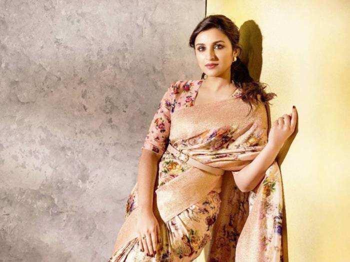 parineeti chopra looks drop dead gorgeous in black sheer saree at bachchan diwali party
