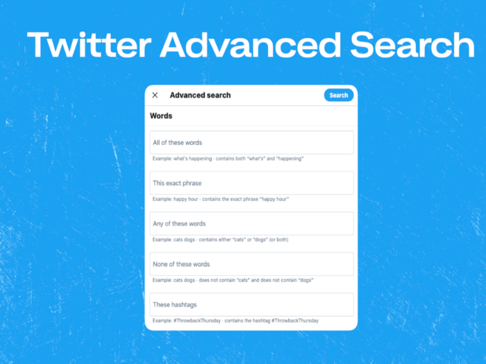 Twitter Advanced Search for COVID-19
