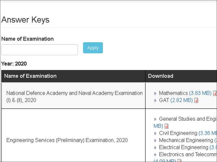 UPSC NDA Answer Key 2021