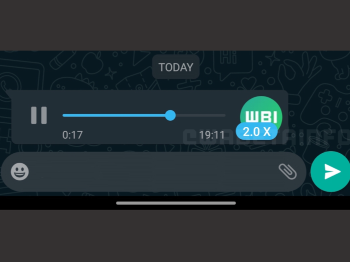 WhatsApp Voice Messages Playback Speed Feature