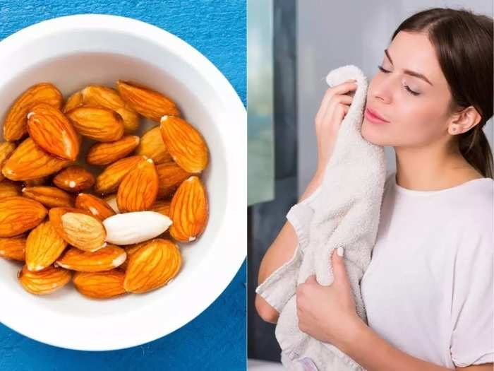 eating almonds daily can reduce the problem of pigmentation and wrinkles on skin research information in marathi