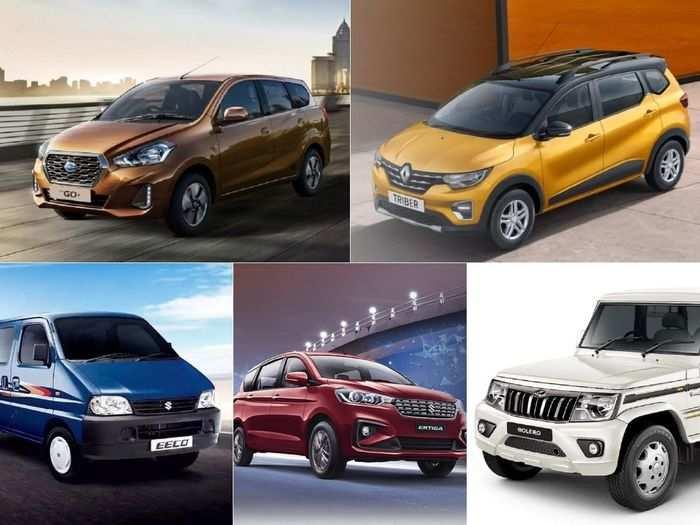 maruti suzuki ertiga to renault triber to mahindra bolero to datsun go plus to maruti suzuki eeco here are five cheapest seven seater cars in india
