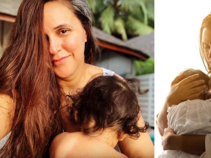 Neha Dhupia shared a post about freedom to feed