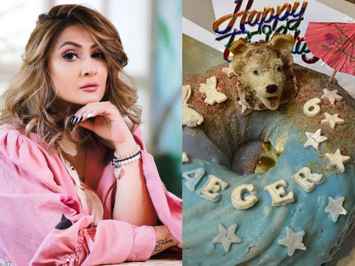 Urvashi Dholakia celebrates her pet dog bday