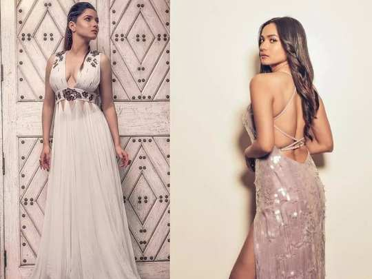 ankita lokhande trolled for her backless and thigh high slit sequin dress in marathi
