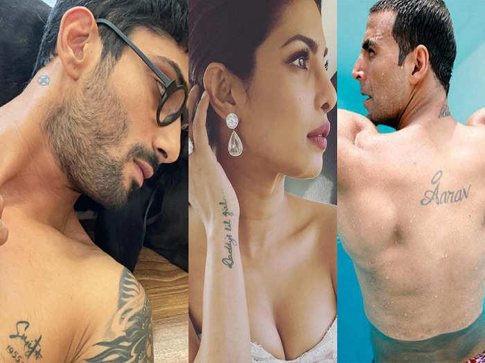 prateik babbar got his mom smita patil name inked know akshay kumar to priyanka chopra tattoos