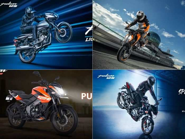 bajaj pulsar125 to bajaj pulsar ns125 to ktm 125 duke to bajaj pulsar 125 split seat here are four latest motorcycles in 125 cc segment