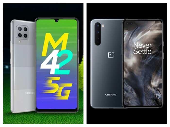 Samsung Galaxy M42 5G vs OnePlus Nord 5G