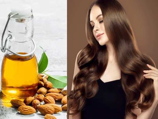 how to get healthy and shiny hair naturally by using almond oil in marathi