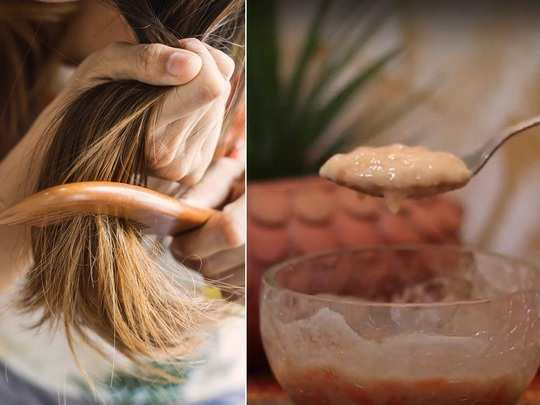 homemade hair mask how to remove split ends at home in marathi
