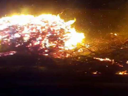 बेलोरा गावात भीषण आग