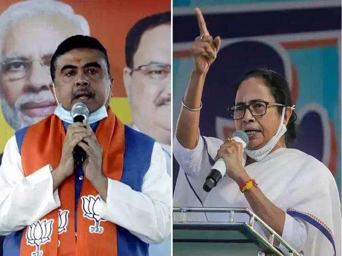 west bengal election result 2021: नंदीग्राममध्ये सुरुवातीचे कल; पहिल्या फेरीत ममतांना धक्का