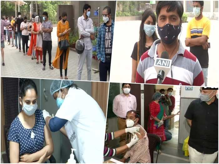 corona vaccination in delhi 18 plus age group start today know what is people response manish sisodia review vaccination in vinod nagar