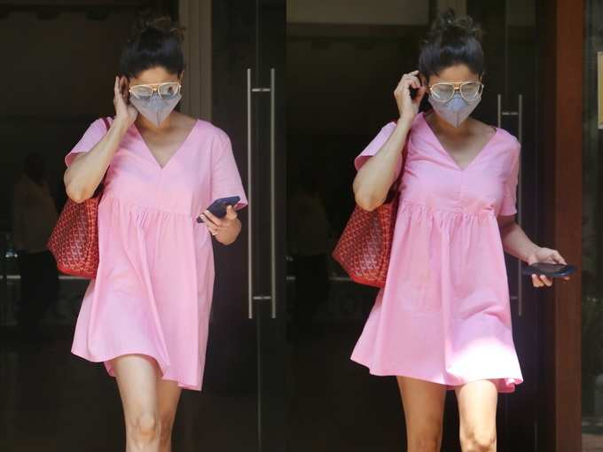 छोटी सी गुलाबी ड्रेस पहनकर यूं निकलीं शमिता शेट्टी, लुक देख मुंह से निकला ये तो क्यूट लग रही