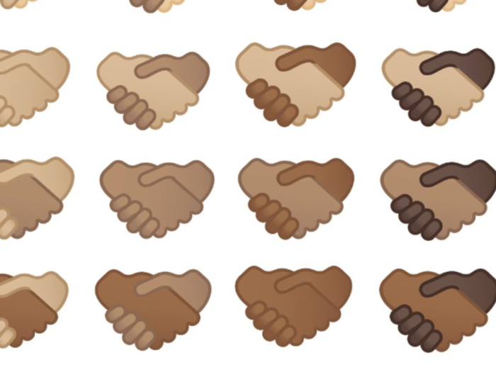 Google Multi Skin Handshake Emoji