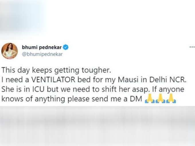 Bhumi Pednekar's tweet