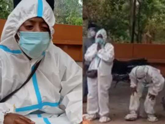 daughter gave fire to both at crematorium: test of pain : brother and  father death from coronavirus in four days, daughter gave fire to both at  crematorium : भाई के बाद पिता
