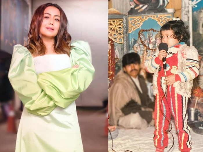 neha kakkar shares her childhood photo of singing at mata rani jagrata talks about struggle rohanpreet is proud