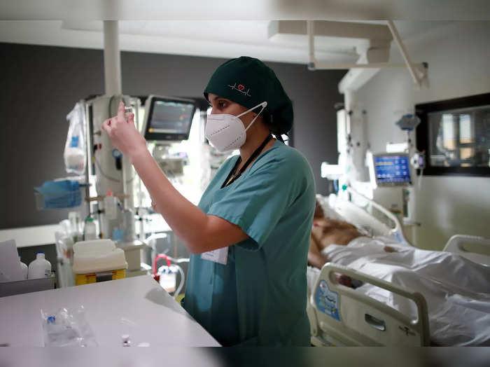 Intensive care unit at the Centre Cardiologique du Nord private hospital in Saint-Denis near Paris