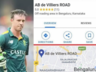 ab de villiers road name in bengaluru shows on google map