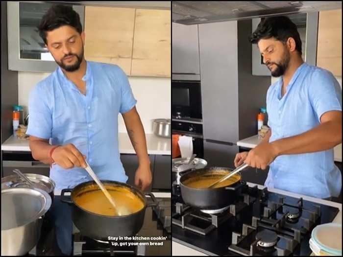 Suresh Raina cooking