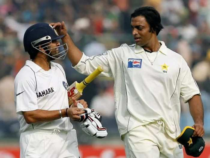 Sachin Tendulkar and Shoaib Akhtar