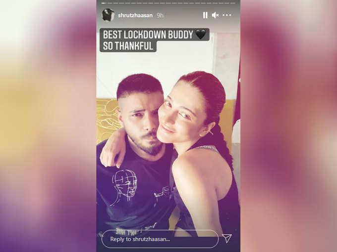 Shruti Haasan's Instagram Story