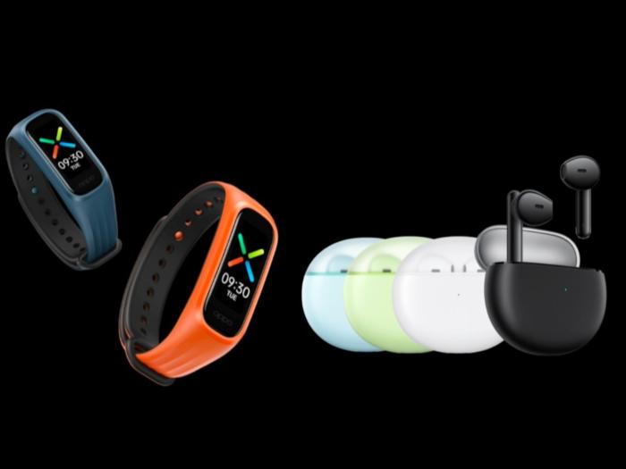 Oppo Enco Air TWS earphones, Oppo Band Vitality Edition